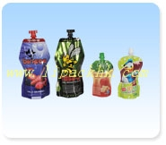 Beverage pouch with spout fitment