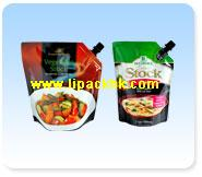 Spouted Pouch for Food and Condiment