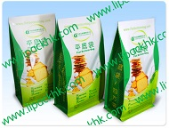Bakery Food Packaging use Flat bottom Zipper Bag