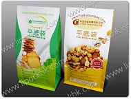 Flat Bottom bag for dry fruit and bakery food packaging