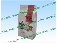 Folding and sealing zipper flat-bottomed bags